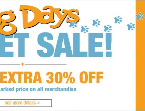 Dog Days Outlet Center Sale