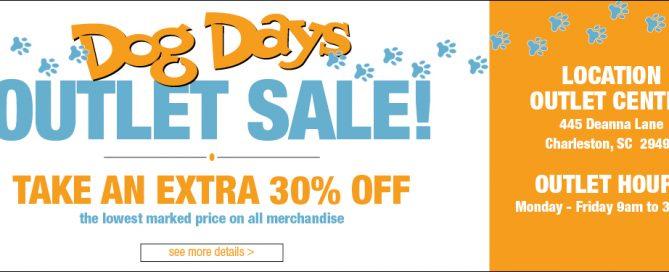 Dog Days Lighting Outlet Center Sale