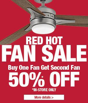 Red Hot Fan Sale - Buy one fan get one fan 50% Off
