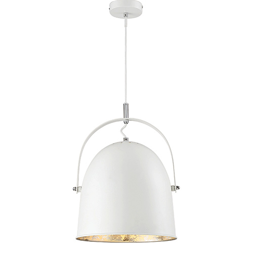 Cypress Collection 1-Light Pendant in White with Silver Leaf Savoy House 7-15000-1-123